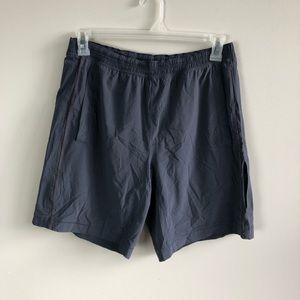 Lululemon men's grey lined athletic shorts size L